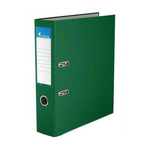 """Iratrendező, 75 mm, A4, PP/karton, élvédő sínnel, VICTORIA, """"Basic"""", zöld (IDI75Z)"""