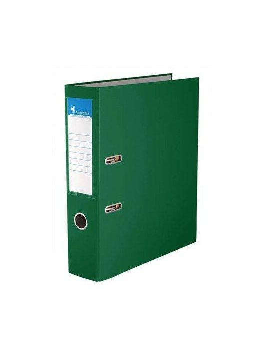 "Iratrendező, 75 mm, A4, PP/karton, VICTORIA, ""Basic"", zöld (IDI75ZN)"