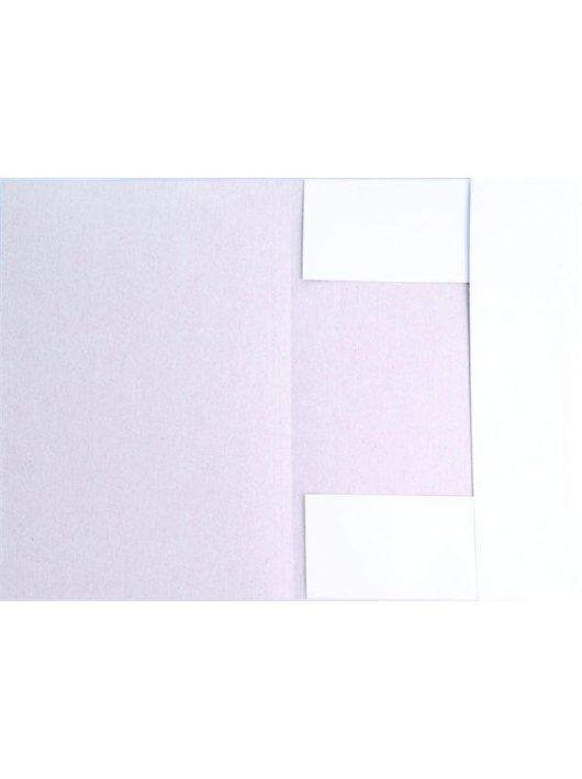 Pólyás dosszié, karton, A4, VICTORIA, fehér (IDPI01)