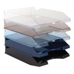 Irattálca, műanyag, VICTORIA, áttetsző kék (IDTAK)