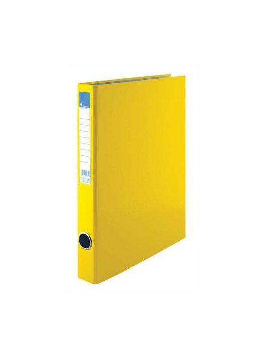 Gyűrűskönyv, 2 gyűrű, 35 mm, A4, PP/karton, VICTORIA, sárga (IDVGY02)