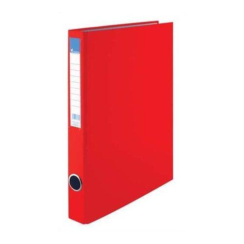 Gyűrűskönyv, 2 gyűrű, 35 mm, A4, PP/karton, VICTORIA, piros (IDVGY03)