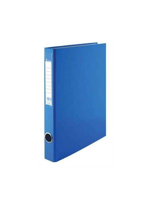 Gyűrűskönyv, 2 gyűrű, 35 mm, A4, PP/karton, VICTORIA, kék (IDVGY05)