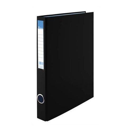 Gyűrűskönyv, 2 gyűrű, 35 mm, A4, PP/karton, VICTORIA, fekete (IDVGY06)