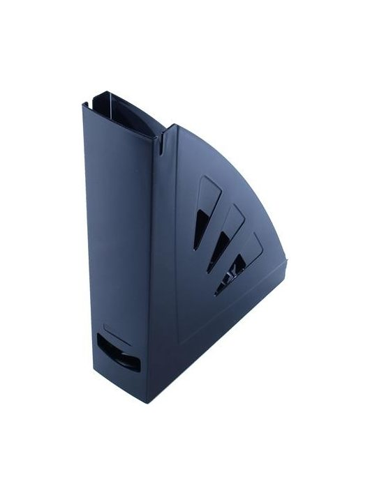 Iratpapucs, műanyag, 75 mm, VICTORIA, fekete