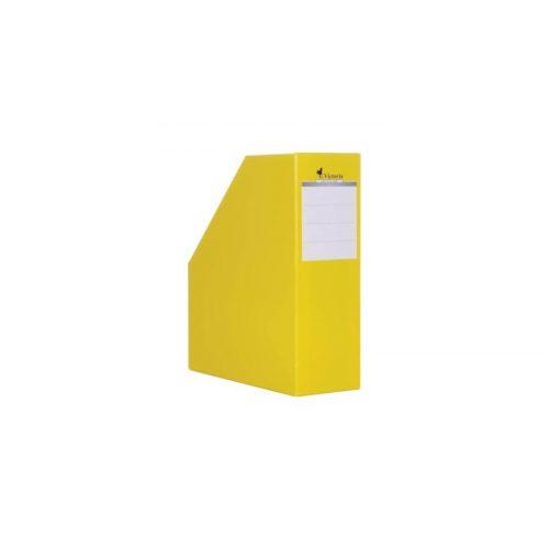 Iratpapucs, karton, 90 mm, VICTORIA, sárga