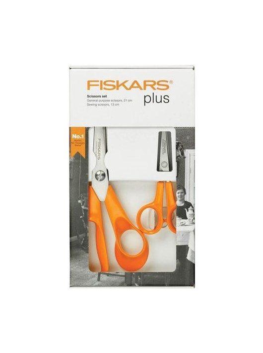 """Olló készlet, FISKARS """"Classic"""", narancssárga (IF859893)"""