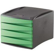 """4 fiókos irattároló, műanyag, FELLOWES """"Green2Desk"""", zöld"""