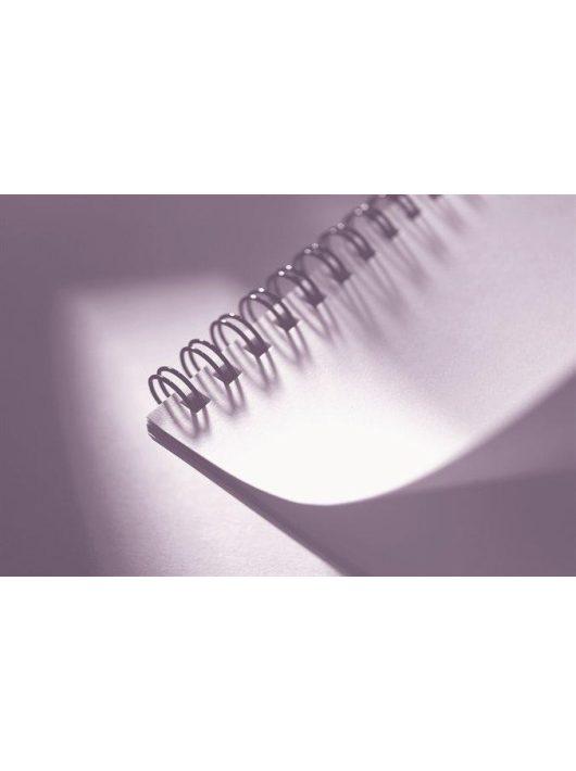 Spirál, fém, 6 mm, 21-35 lap, FELLOWES, fekete (IFW53218)