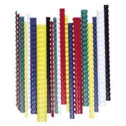 Spirál, műanyag, 8 mm, 21-40 lap, FELLOWES, fehér (IFW53454)