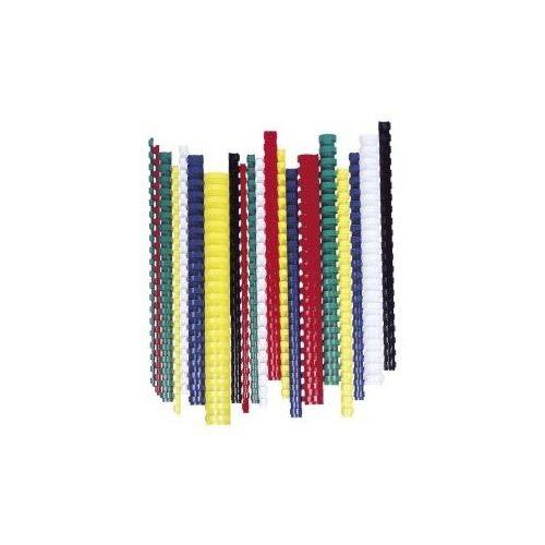 Spirál, műanyag, 14 mm, 81-100 lap, FELLOWES, fehér (IFW53466)