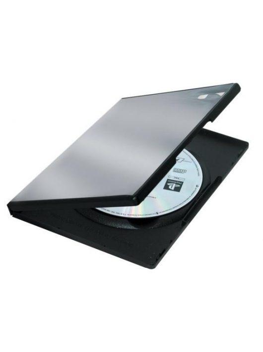 DVD-tok, normál, 1 lemez, PP, FELLOWES, fekete (IFW83357)