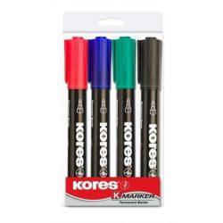"""Alkoholos marker, 3-5 mm, kúpos, KORES """"Marka"""", 4 különböző szín (IK20943)"""