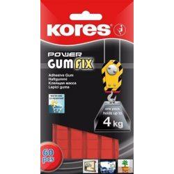 """Gyurmaragasztó, 60 kocka/csomag, extra erős, KORES """"Power Gumfix"""" (IK31604)"""
