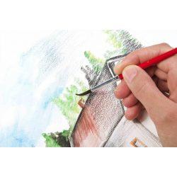 Akvarell ceruza készlet, hegyezővel, ecsettel, KORES, 12 különböző szín (IK93812)
