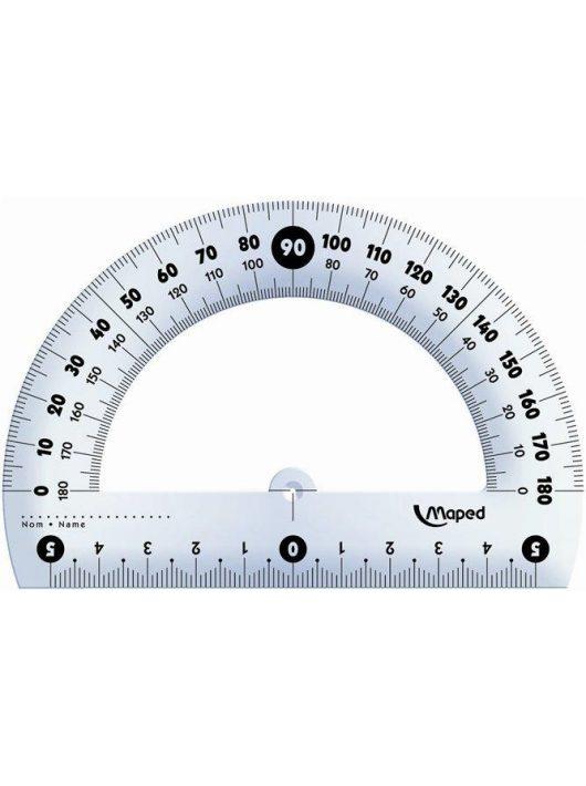 """Szögmérő, műanyag 180°-os kínáló dobozos MAPED """"Essentials"""" (IMA146134)"""