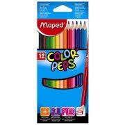 """Színes ceruza készlet, háromszögletű, MAPED """"Color'Peps"""", 12 különböző szín (IMA183212)"""