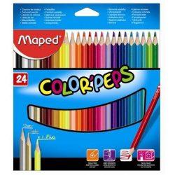 """Színes ceruza készlet, háromszögletű, MAPED """"Color'Peps"""", 24 különböző szín (IMA183224)"""