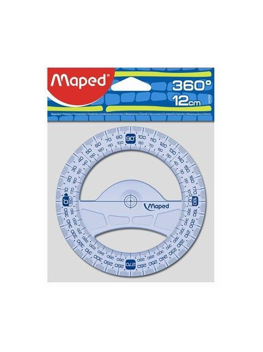 "Szögmérő, műanyag, 360°, MAPED ""Graphic"" (IMA242360)"