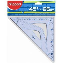 """Háromszög vonalzó, műanyag, 45°, 26 cm, MAPED """"Geometric"""""""