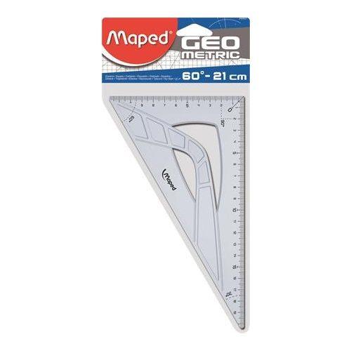 """Háromszög vonalzó, műanyag, 60°, 21 cm, MAPED """"Geometric"""""""
