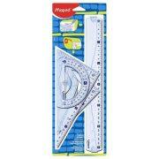 """Vonalzókészlet, műanyag, 4 darabos, MAPED """"Graphic"""" (IMA242767)"""