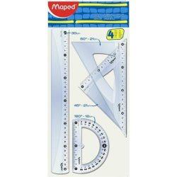 """Vonalzókészlet, nagy, műanyag, 4 darabos, MAPED """"Start"""" (IMA242830)"""