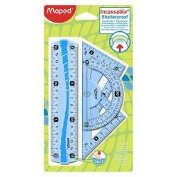 """Vonalzókészlet, kicsi, műanyag, hajlítható, 4 darabos, MAPED """"Flex"""" (IMA244069)"""