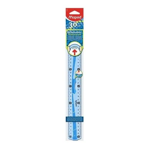 """Vonalzó, műanyag, hajlítható, 30 cm, leszorítóval, MAPED """"Flex"""" (IMA244130)"""