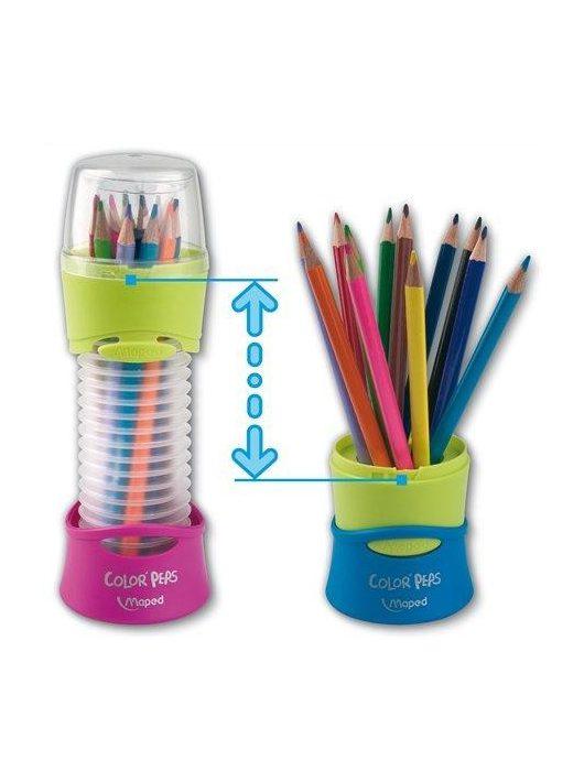 """Színes ceruza készlet, háromszögletű, összecsukható tartó, MAPED """"Color'Peps"""", 12 különböző szín (IMA683212)"""