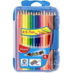 """Színes ceruza készlet, háromszögletű, MAPED """"Color'Peps Smart box"""", 15 különböző szín (IMA832035)"""