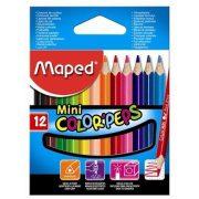 """Színes ceruza készlet, háromszögletű, MAPED """"Color'Peps Mini"""", 12 különböző szín (IMA832500)"""