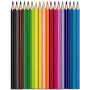 """Akvarell ceruza készlet, háromszögletű, ecsettel, MAPED """"Color Peps"""", 18 különböző szín (IMA836012)"""
