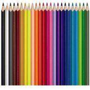 """Akvarell ceruza készlet, háromszögletű, ecsettel, MAPED """"Color Peps"""", 24 különböző szín (IMA836013)"""
