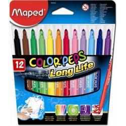 """Filctoll készlet, 1-5 mm, kimosható, MAPED """"Color'Peps"""", 12 különböző szín (IMA845020)"""