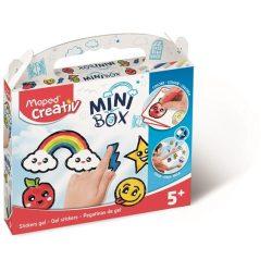 """Üvegfóliafesték kreatív készségfejlesztő készlet, mintaívvel, MAPED CREATIV, """"Mini Box"""","""
