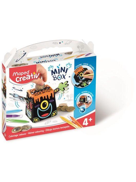 """Pénzpersely készítő kreatív készségfejlesztő készlet, színezhető, MAPED CREATIV, """"Mini Box"""""""