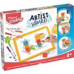 """Kreatív készségfejlesztő fehértábla, mágneses, törölhető, MAPED CREATIV, """"Artist Board"""", tábla"""