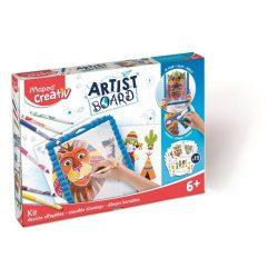 """Kreatív készségfejlesztő tábla, átlátszó, törölhető, MAPED CREATIV, """"Artist Board"""", kalandos világ"""