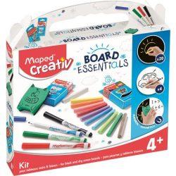 """Kreatív készségfejlesztő rajzkészlet, különböző táblákhoz, MAPED CREATIV, """"Board Essentials"""""""