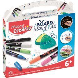 """Marker készlet, törölhető, különböző felületekre, MAPED CREATIV, """"Board Essentials,"""" 6 különböző"""