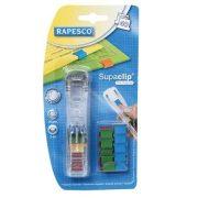 """Kapocsadagoló, RAPESCO, """"Supaclip"""" színes kapcsokkal (IRRC4025MC)"""