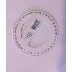 Szögmérő, papír, 360 fokos (ISKE149)