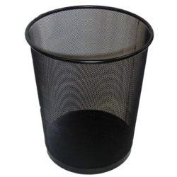 Papírkosár, fémhálós, VICTORIA, fekete (IVIC08)