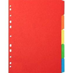 Regiszter, karton, A4, 12 részes, írható előlappal, VICTORIA, színes