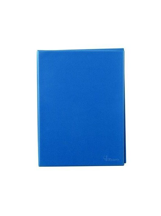 Villámzáras mappa, A4, álló, VICTORIA, kék (IVVMK)