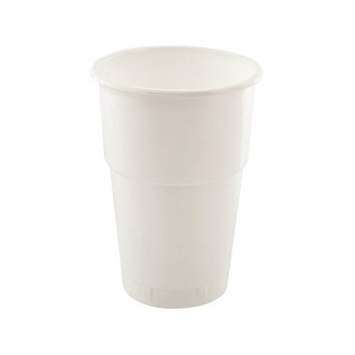 Műanyag pohár, 5 dl, fehér