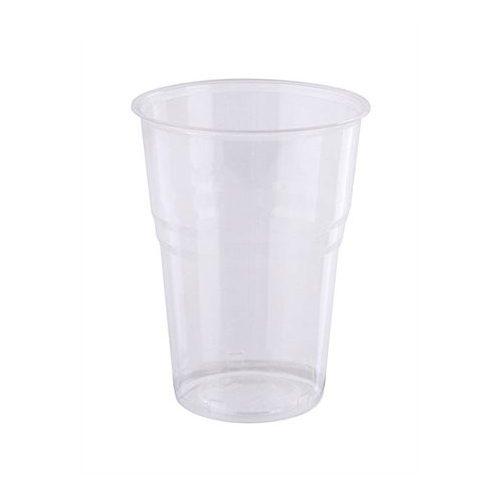 Műanyag pohár, 5 dl, víztiszta