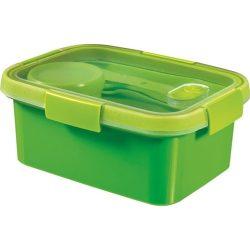 """Ételtartó, evőeszközzel, 1,2l, CURVER, """"Smart to go"""", zöld"""