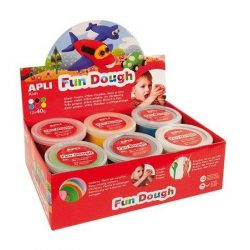 "Gyurma, 480 g, APLI, ""Fun Dough"", display, alap színek (LCA13450)"